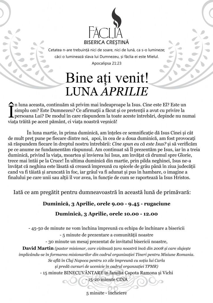 20160403 - Buletin Informativ Faclia